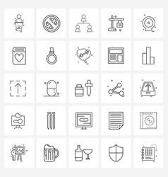 Stock icon set 25 line symbols for recording vector