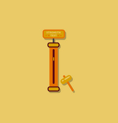 Strength tester test your amusement game vector