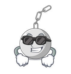 super cool wrecking ball hanging from chain vector image