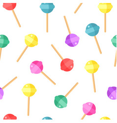 sweet pattern candy color background vector image