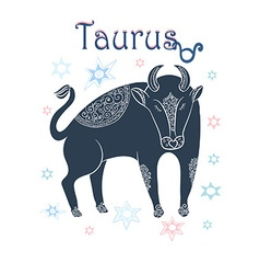 Taurus sign in horoscope vector