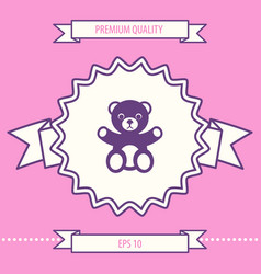 Teddy bear icon graphic elements for your design vector