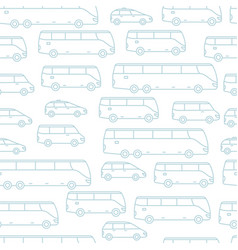 transport seamless pattern background passengers vector image
