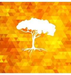 Tree silhouette summer vector image