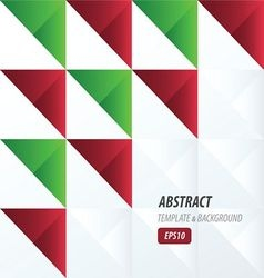 Triangle pattern design 2 color red and green colo vector