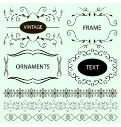 Vintage ornaments and dividers frame vector image