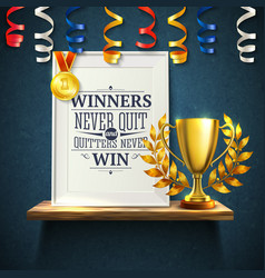 Winners quotes reslistic vector
