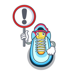 with sign classic sneaker character style vector image