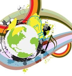 abstract retro design banner vector image vector image