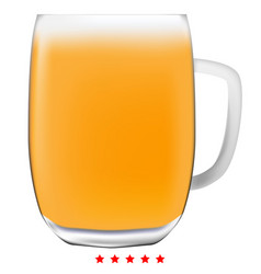 beer mug icon color fill style vector image vector image