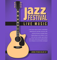 jazz festival music background vector image vector image