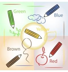 Pencils doodle vector image