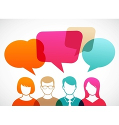 People with speech bubbles vector