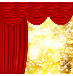 satin curtain background vector image