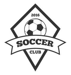 soccer logo template emblem in black vector image