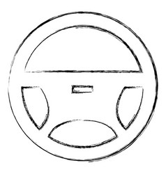steering wheel isolated icon vector image