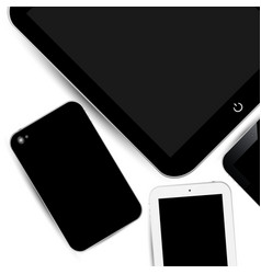 work surface phone touch pad vector image