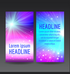 abstract colorful flyer templates vector image vector image