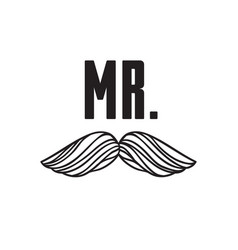 Hand drawn old fashion mustaches vector
