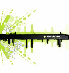 white and green retro banner vector image