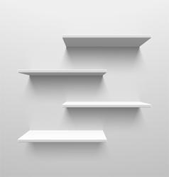 White shelves vector image