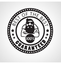Best of the best Satisfaction guaranteed sticker vector image