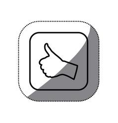 figure symbol goodhand icon vector image