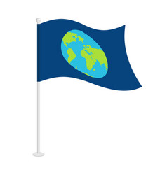 flag earth official national symbol of planet vector image