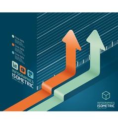 infographic arrow diagram chart vector image