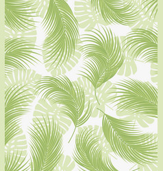 palm tree leaves vector image vector image