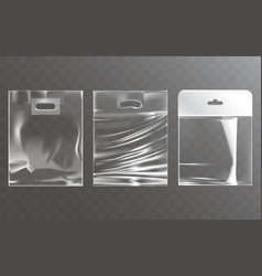 set of of transparent plastic vector image