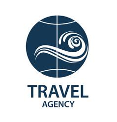travel earth logo vector image vector image