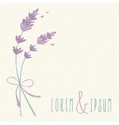 wedding day design invitation lavender flowers vector image vector image