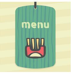Wrap with fried potato sticks icon modern logo vector