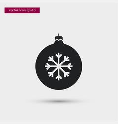 xmas tree toy icon simple winter sign vector image