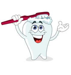 brushing tooth vector image