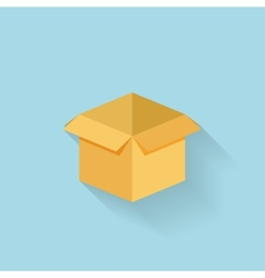 Flat box icon for web vector image