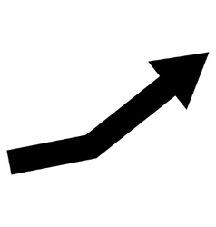 Growth Trend Flat Icon vector image