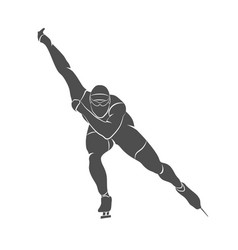 silhouette speed skaters vector image vector image