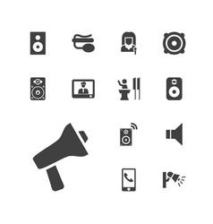 13 speaker icons vector