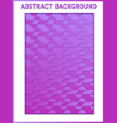 Abstract background purple and blue 3d vector