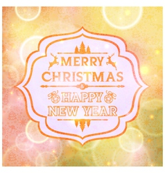 Abstract card with the words Merry Christmas vector image