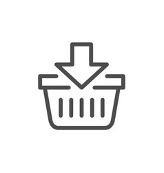 add to cart line icon vector image