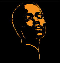 african woman portrait silhouette in contrast vector image