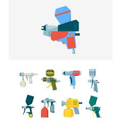 airbrush gun spray equipment for industrial vector image