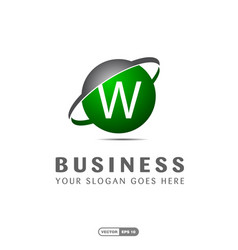 alphabetical logo of business company and vector image