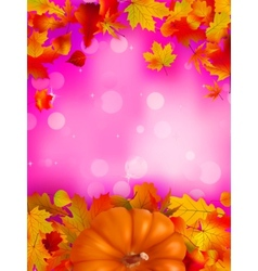 Autumn leafs frame vector