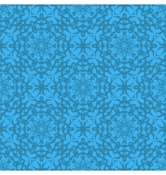 Azure Ornamental Seamless Line Pattern vector