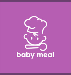 Baby meal logo minimalist and simple vector
