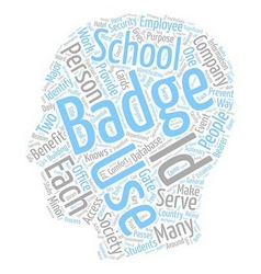 Benefits Of I D Badges text background wordcloud vector